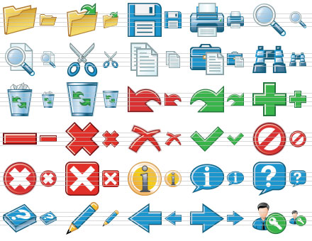 Standard Toolbar Icons Screenshot 1