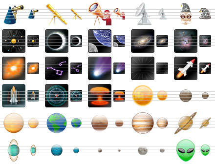 Space Icons Screenshot