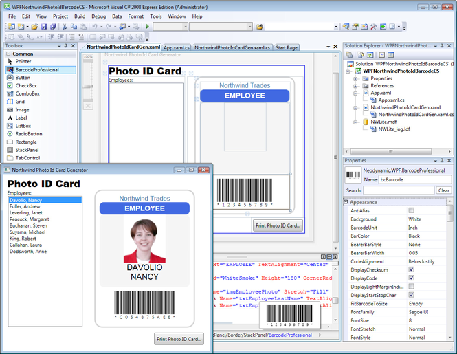 WPF Barcode Professional Screenshot 1