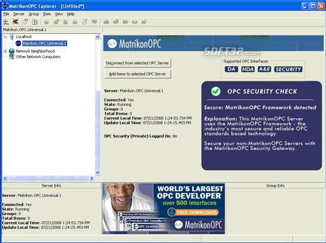 Matrikon OPC Explorer Screenshot 3