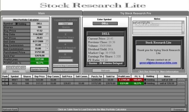 Stock Research Lite Screenshot 3