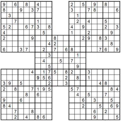 Expert samurai sudoku Screenshot 1