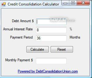 Credit Consolidation Screenshot