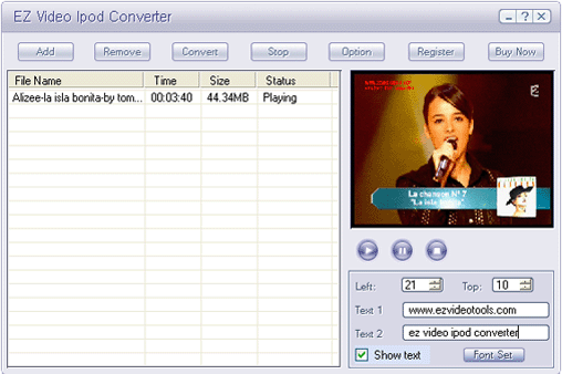EZ Video iPod Converter Screenshot