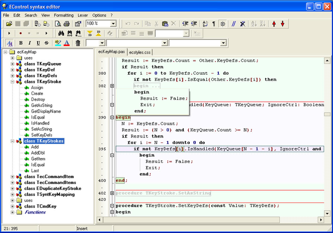 EControl Syntax Editor Screenshot