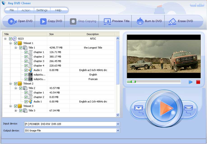 Any DVD Cloner Screenshot 1