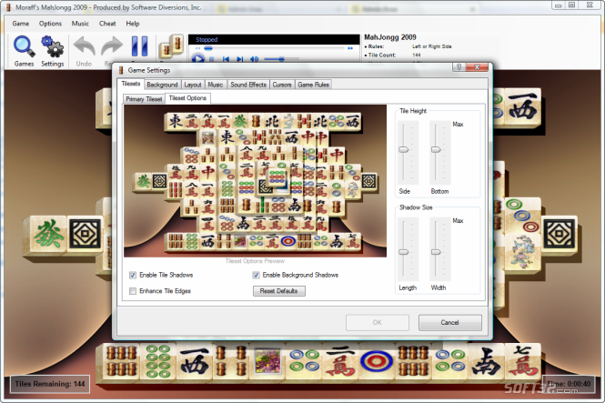 Moraff's MahJongg 2009 Screenshot 5