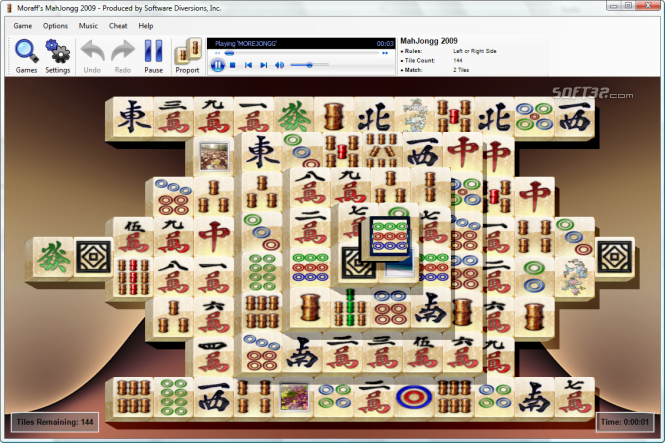Moraff's MahJongg 2009 Screenshot 2