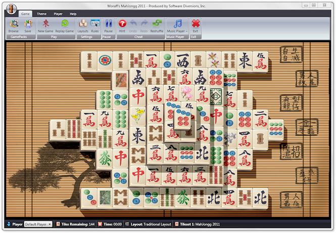 Moraff's MahJongg 2009 Screenshot 1