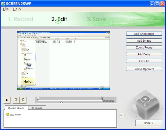 SCREEN2SWF Screenshot 1