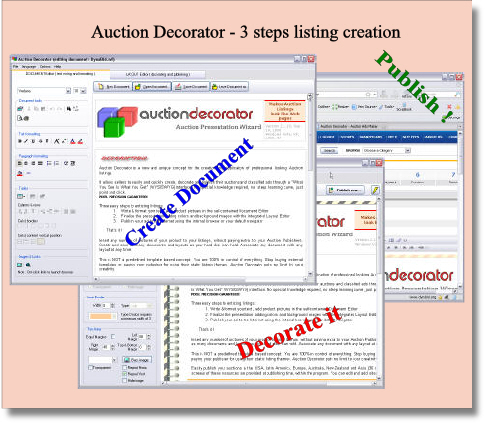 Auction Decorator - Auction Maker Wizard Screenshot