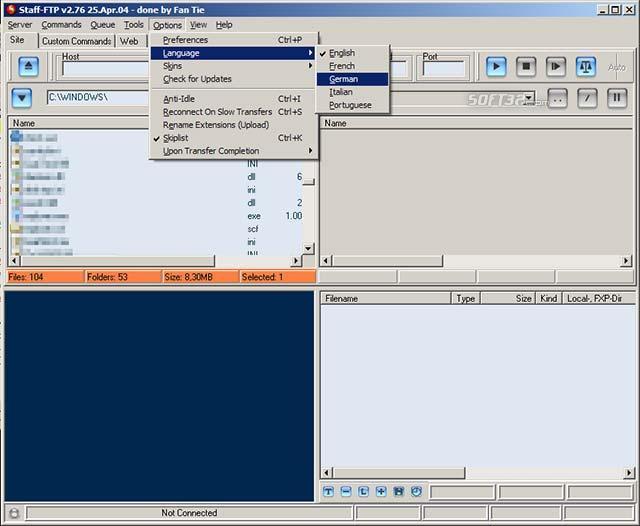 Staff-FTP Screenshot 2