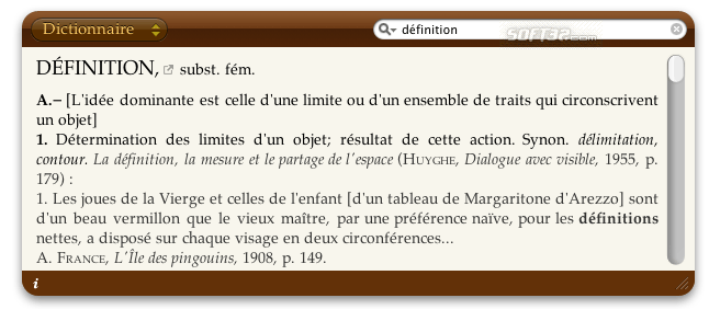Dictionnaire Screenshot