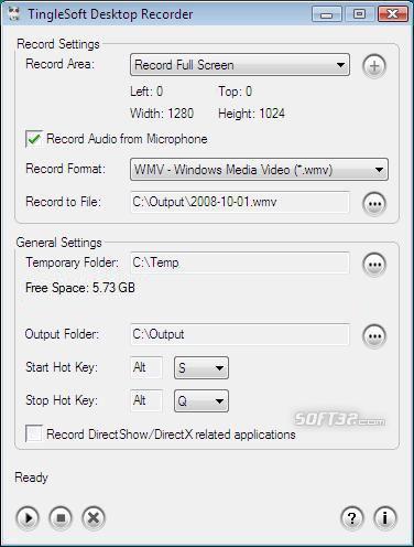 TingleSoft Desktop Recorder Screenshot 1