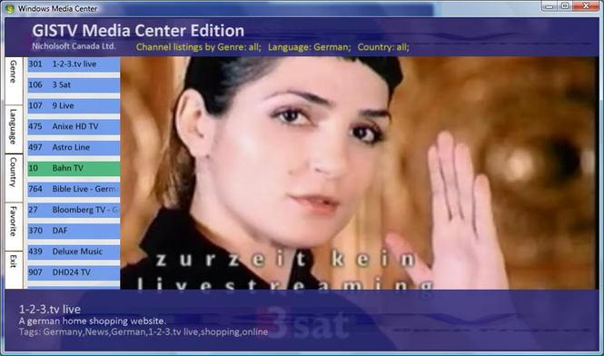 mceGISTV Screenshot