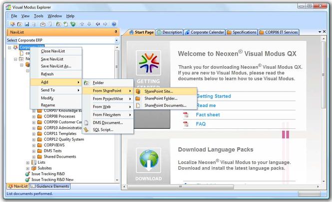 Neoxen Visual Modus for SharePoint Screenshot