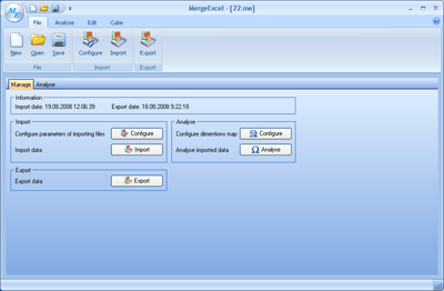 MergeExcel Screenshot