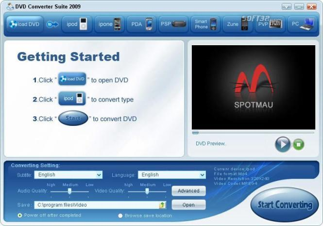 DVD Converter Suite Screenshot