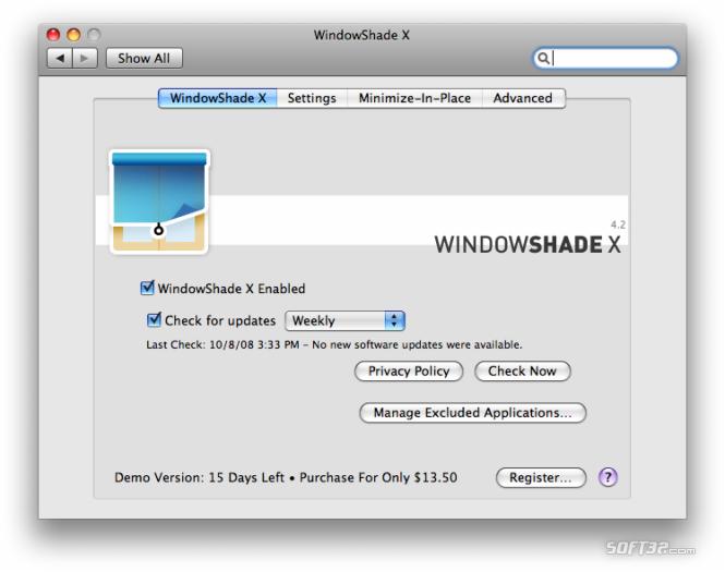 WindowShade X Screenshot 2