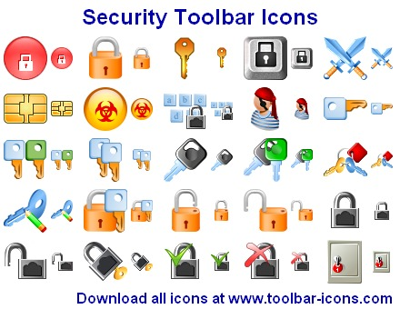 Security Toolbar Icons Screenshot 1