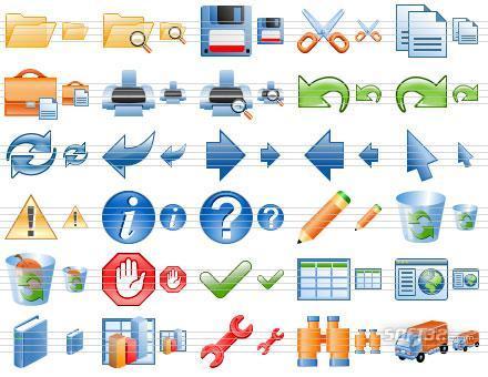 Software Toolbar Icons Screenshot 2