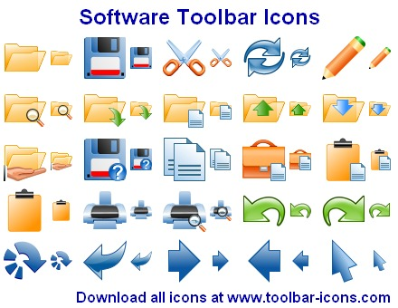 Software Toolbar Icons Screenshot