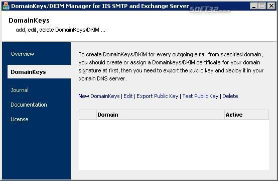 Domainkeys/DKIM for IIS/Exchange Server Screenshot 2