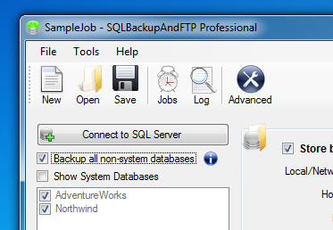 SQLBackupAndFTP Screenshot 1