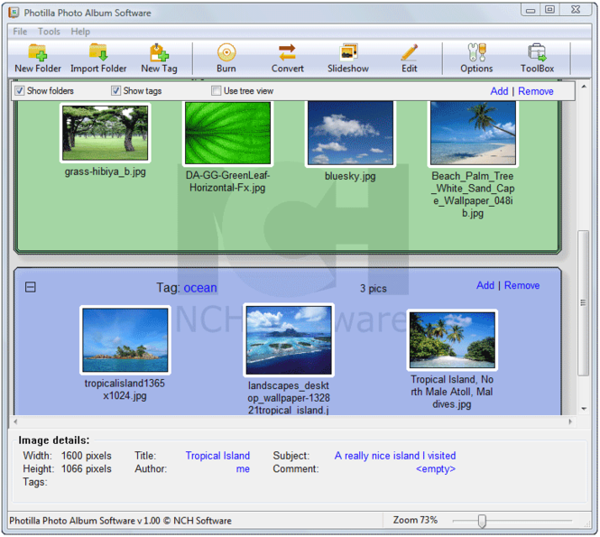 Photilla Photo Album Software Screenshot