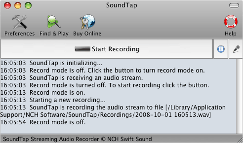 SoundTap Streaming Audio Record for Mac Screenshot