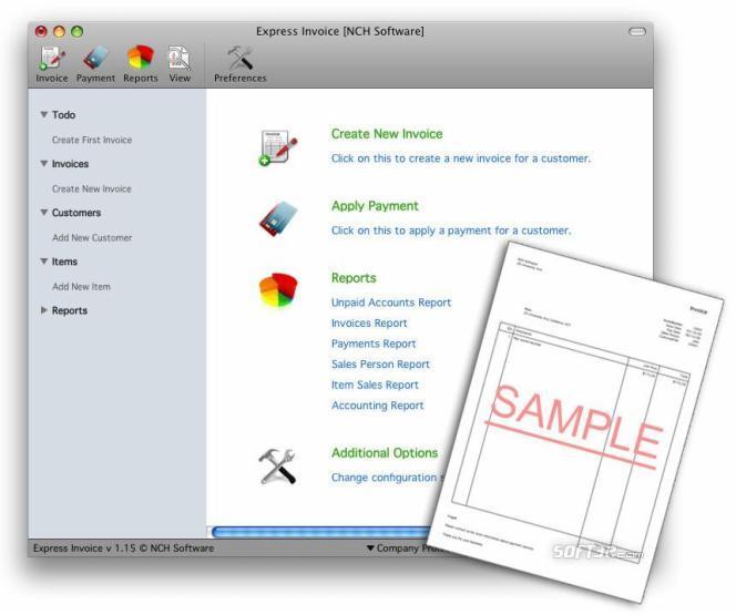 Express Invoice for Mac Screenshot 2