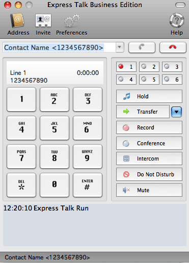 Express Talk VoIP Softphone for Mac Screenshot