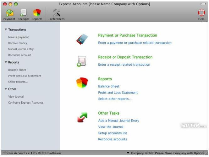 Express Accounts Accounting Software for Mac Screenshot 2