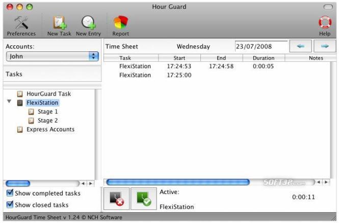 HourGuard Timesheet Software for Mac Screenshot 3