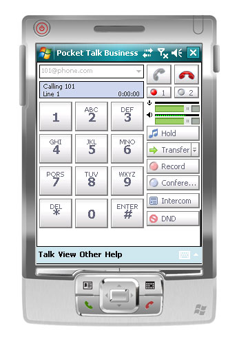 Express Talk Softphone for Pocket PC Screenshot