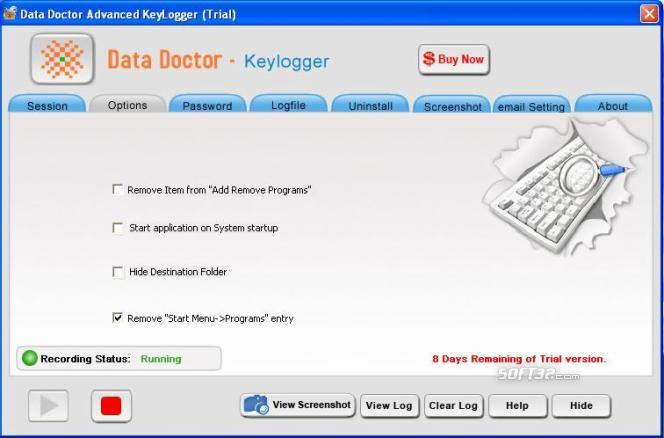 Remote Keystrokes Recorder Screenshot 2