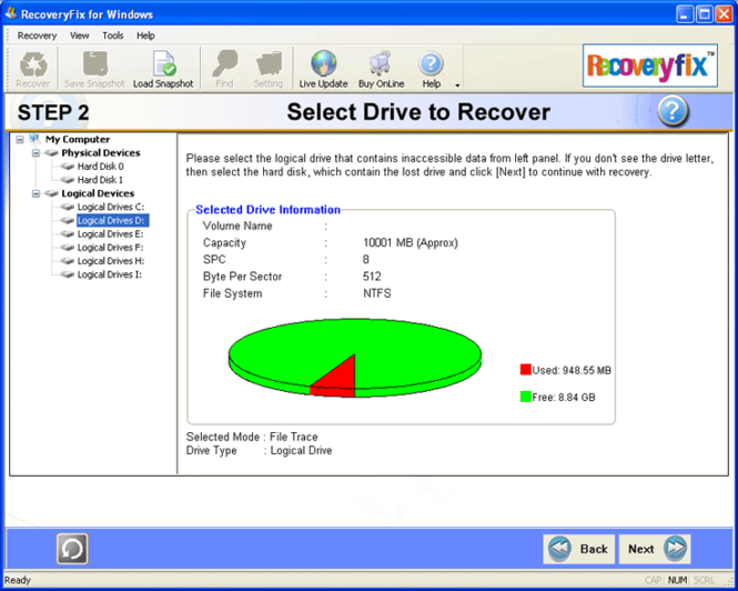 Data Recovery Tool Screenshot