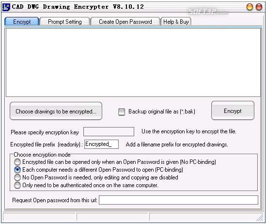 CAD DWG Drawing Encrypter Screenshot 2