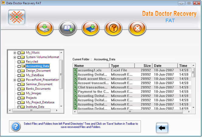 Data Doctor Recovery FAT Partition Screenshot