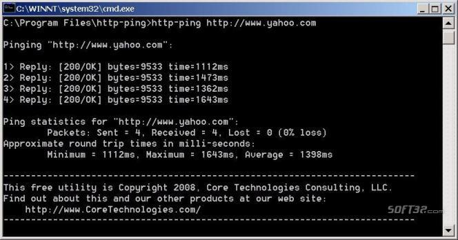 http-ping Screenshot 2