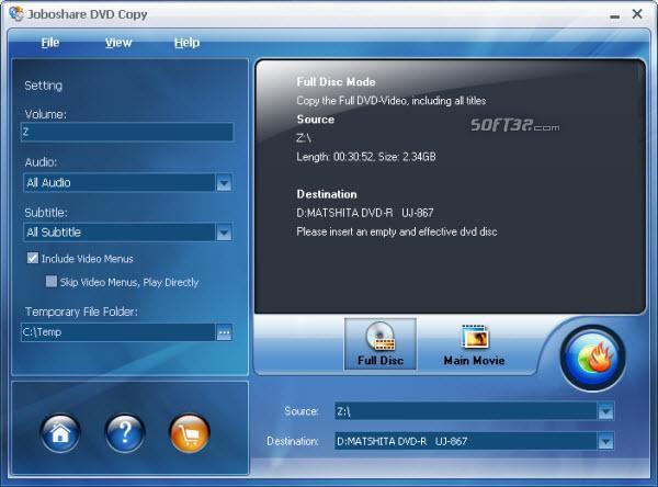 Joboshare DVD Copy Screenshot 2