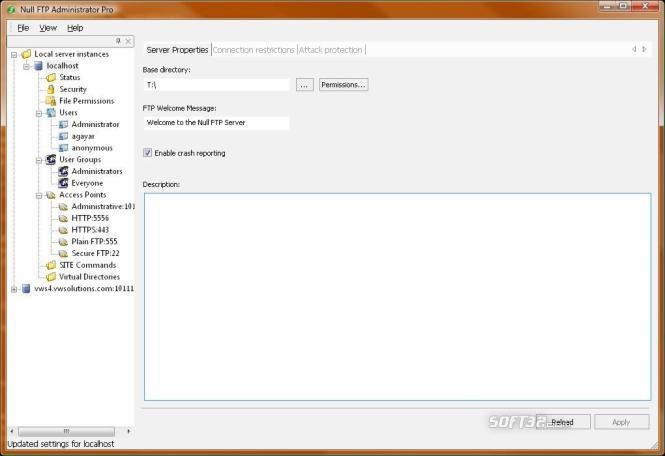Null FTP Server Pro Screenshot 2