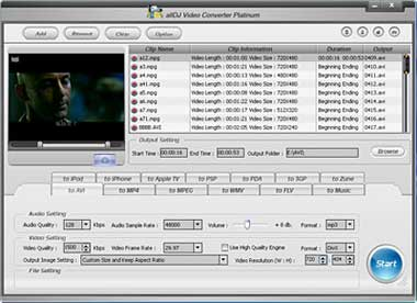 Alldj Video Converter Platinum Screenshot