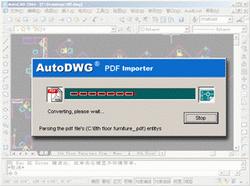 PDF to DWG Converter Stand-Alone 2011.07 Screenshot