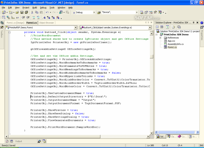 Print2eDoc SDK Screenshot 2