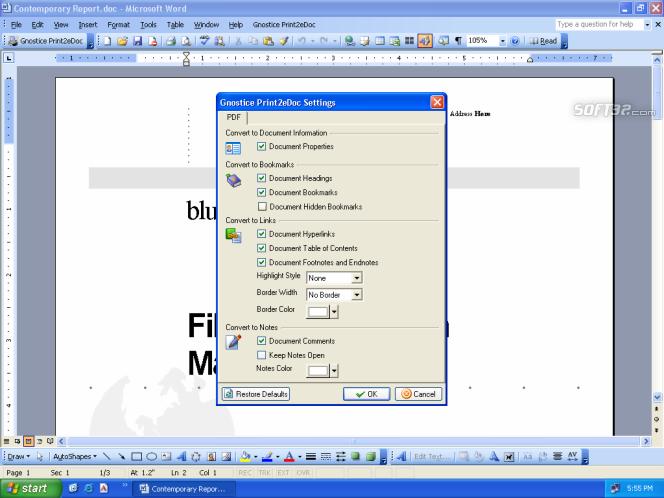 Print2eDoc Screenshot 2