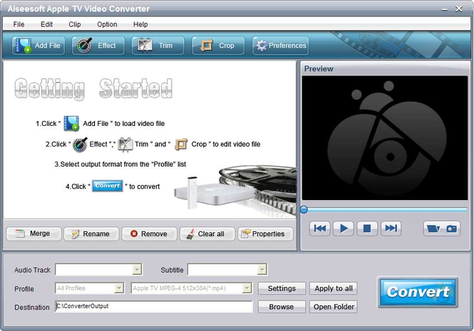 Aiseesoft Apple TV Video Converter Screenshot 3