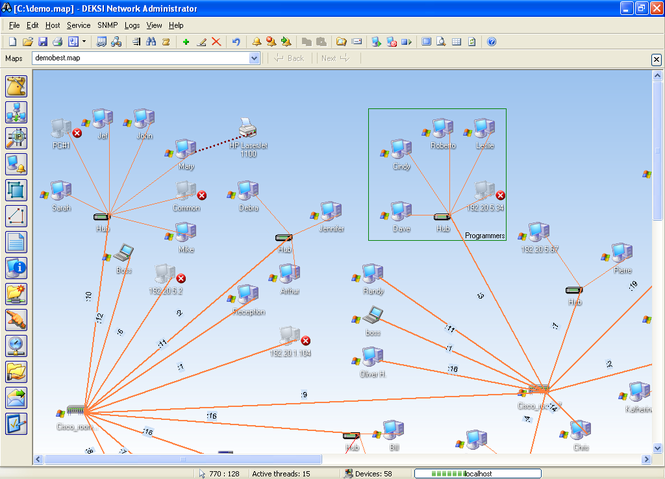 DEKSI Network Administrator Screenshot