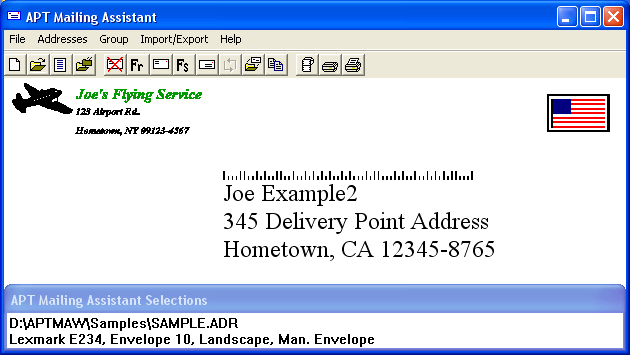 APT Mailing Assistant Screenshot