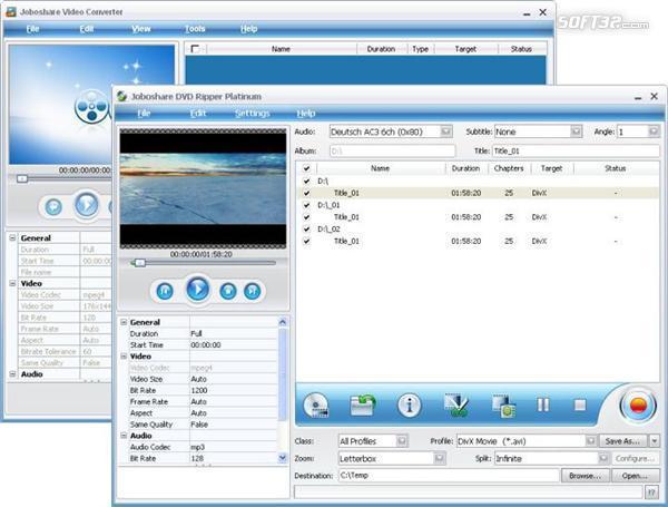 Joboshare Ripper Bundle Platinum Screenshot 3